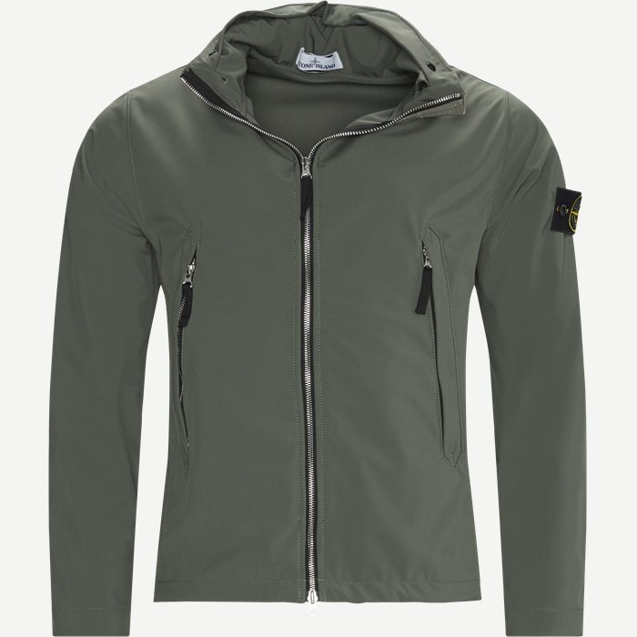 40827 Light Soft Shell-R Jacket - Jakker - Regular - Army