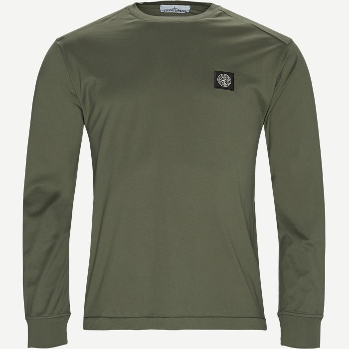 Long Sleeved LogoT-shirt - T-shirts - Regular - Army
