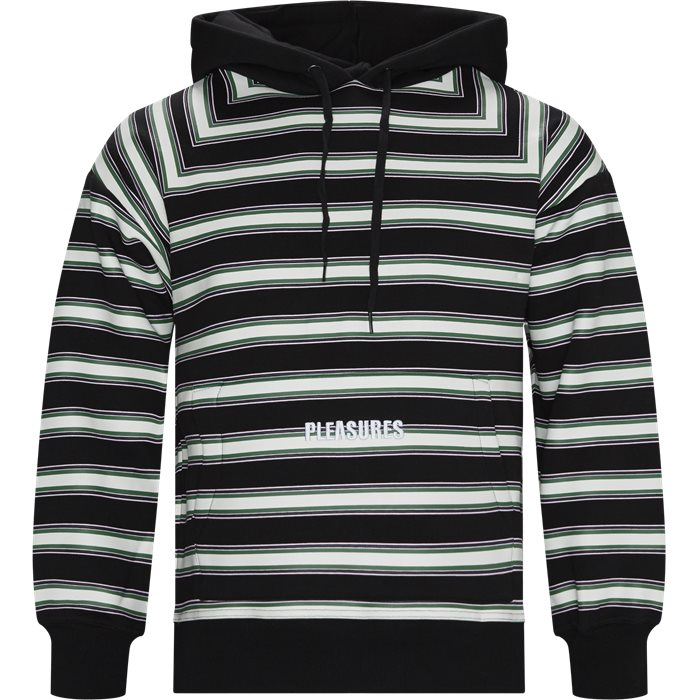 Lost Striped Hoodie - Sweatshirts - Regular - Sort