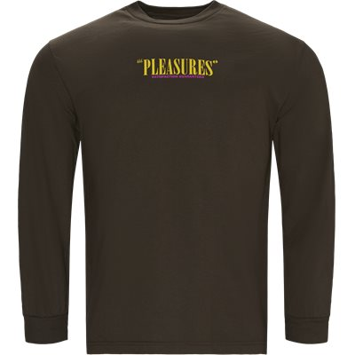 Satisfacton Guaranteed Long Sleeve Tee Regular | Satisfacton Guaranteed Long Sleeve Tee | Brun