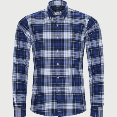 Checked Button-Down Shirt Custom fit | Checked Button-Down Shirt | Blå