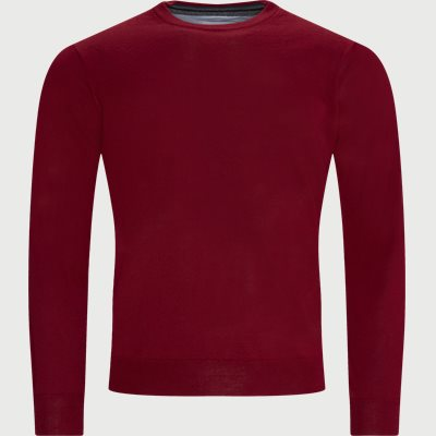 Lipan Merino Striktrøje Regular | Lipan Merino Striktrøje | Rød