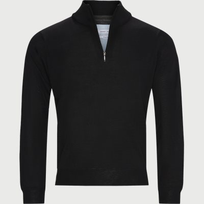 Panerea Half-Zip Striktrøje Regular | Panerea Half-Zip Striktrøje | Sort