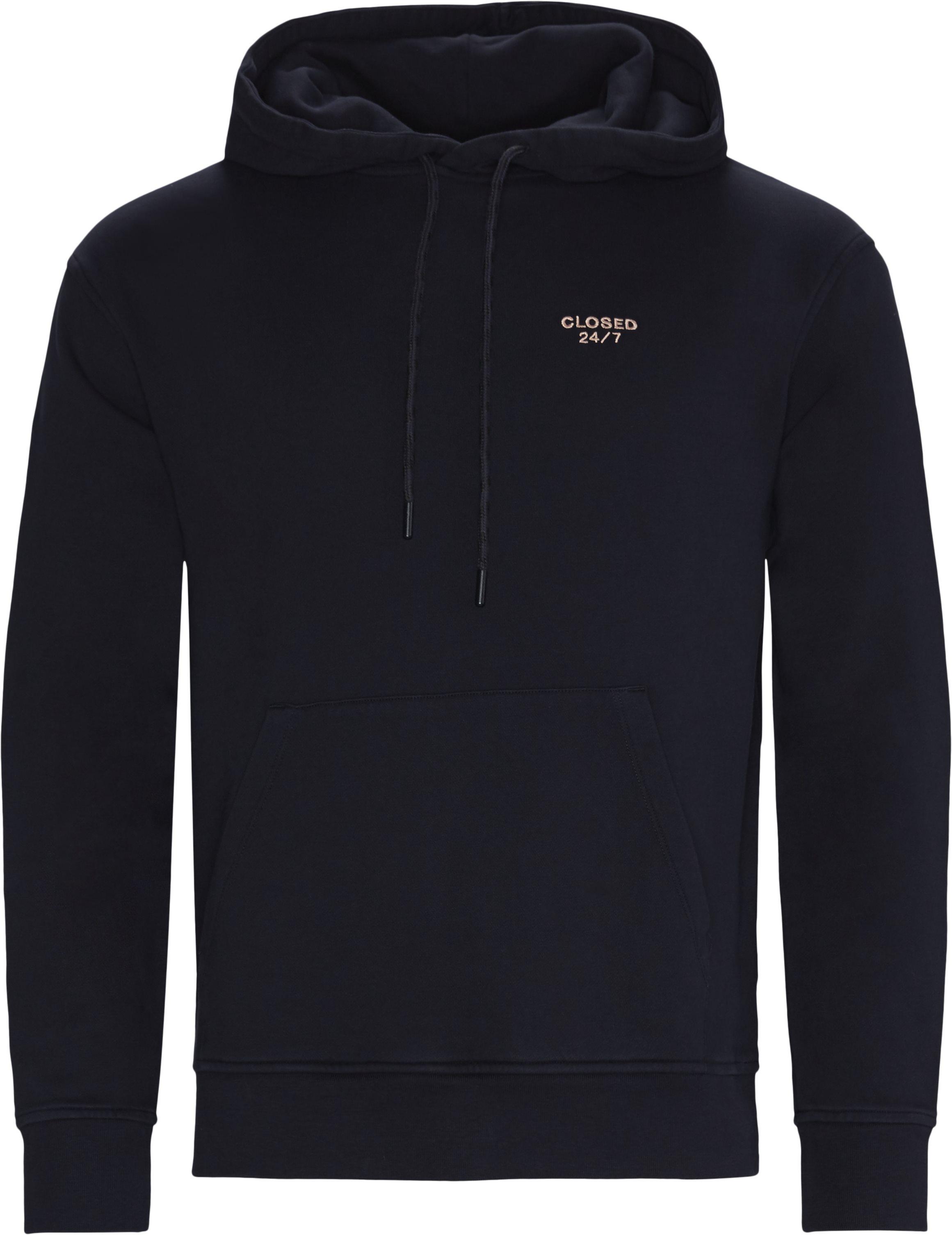 Hoodie  - Sweatshirts - Regular fit - Blå
