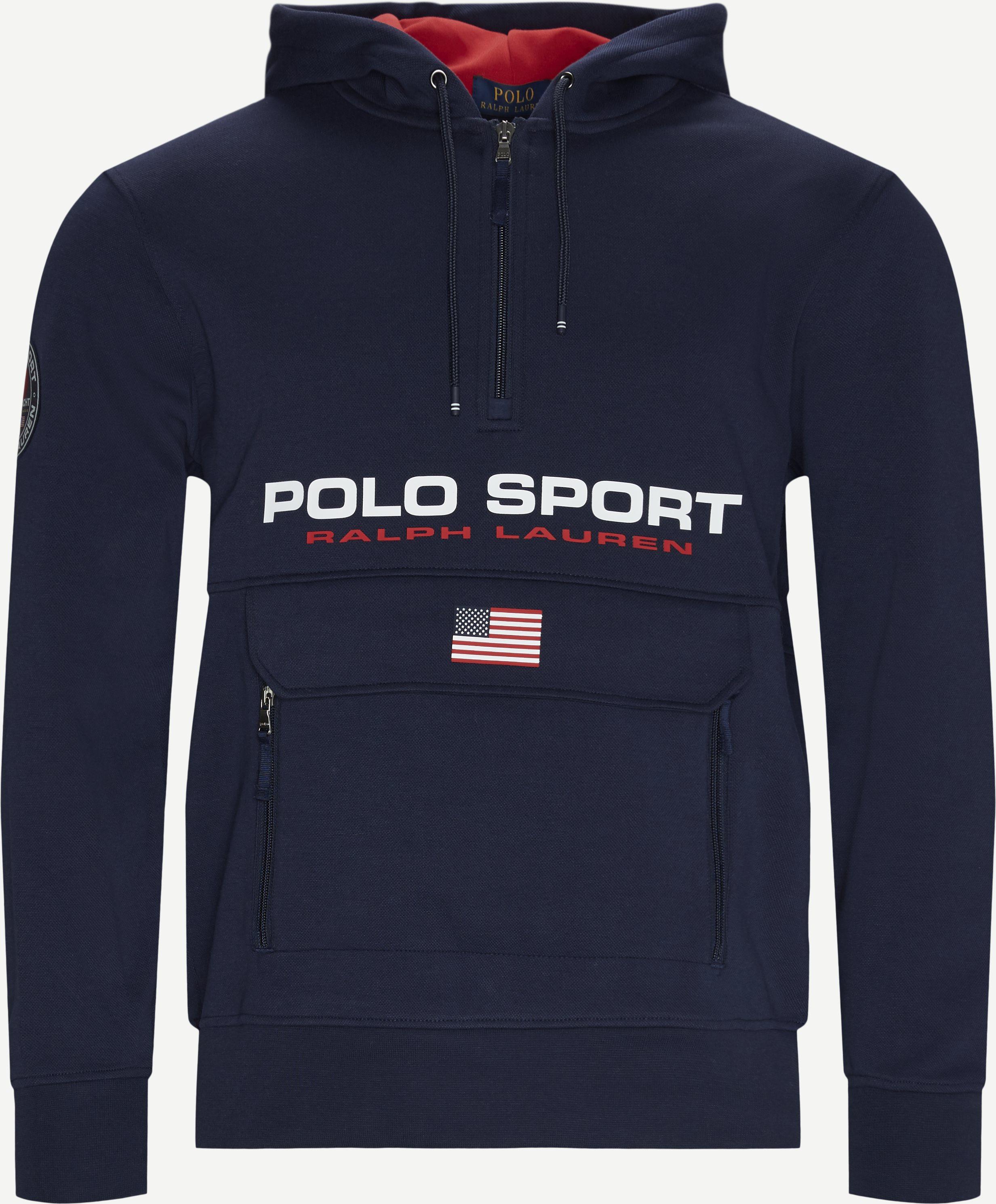 Half-Zip Sweatshirt - Sweatshirts - Regular fit - Blå