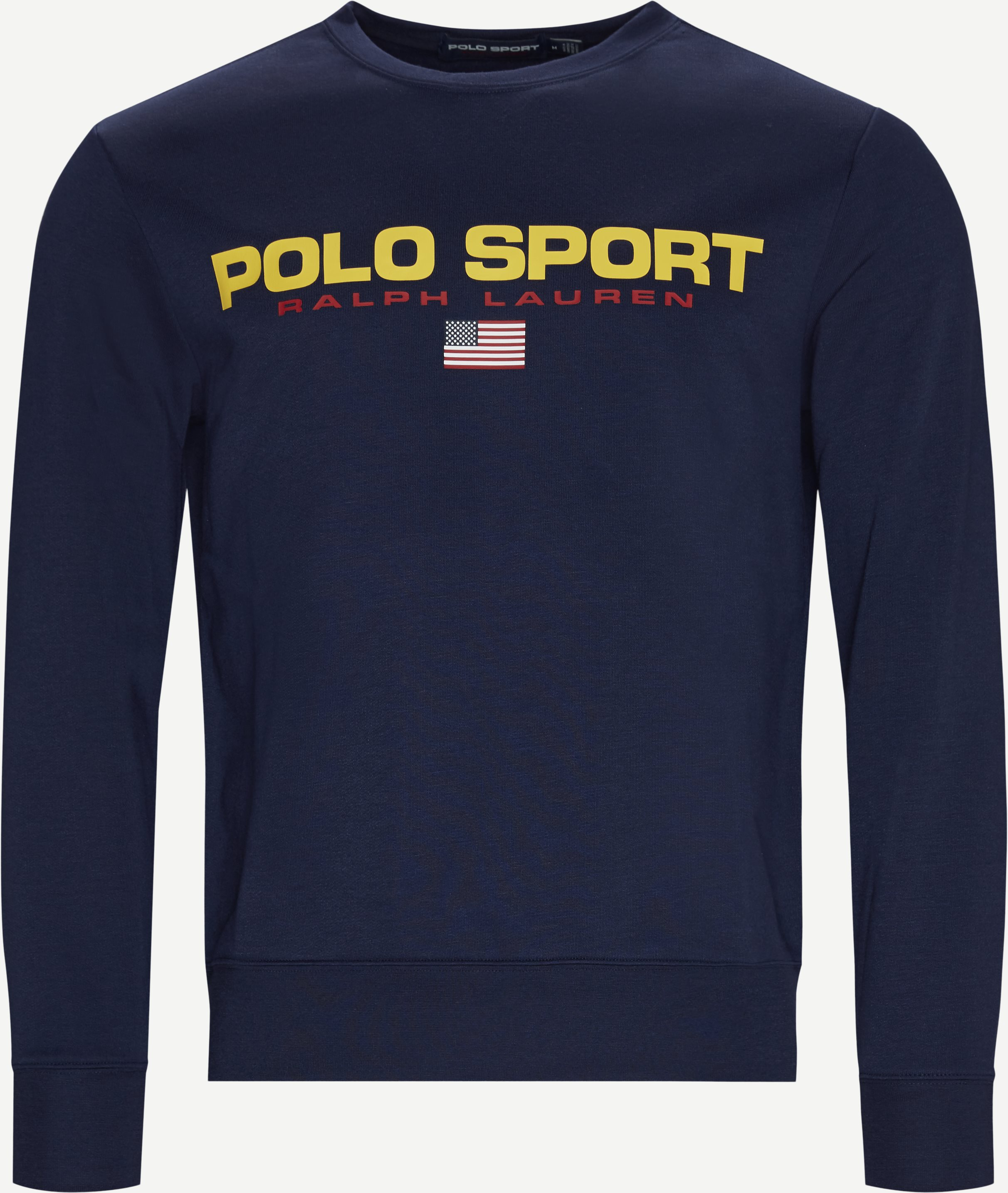 Cotton Logo Sweatshirt - Sweatshirts - Regular - Blå