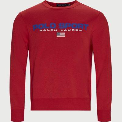 Cotton Logo Sweatshirt Regular | Cotton Logo Sweatshirt | Rød