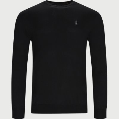 Cotton Crewneck Jumper Slim | Cotton Crewneck Jumper | Sort