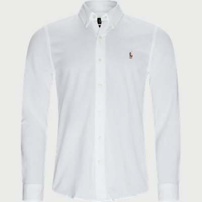 Knit Oxford Skjorte Regular | Knit Oxford Skjorte | Hvid