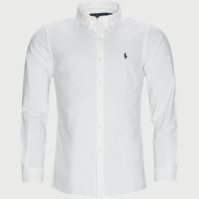 Button-Down Oxford Skjorte Slim | Button-Down Oxford Skjorte | Hvid