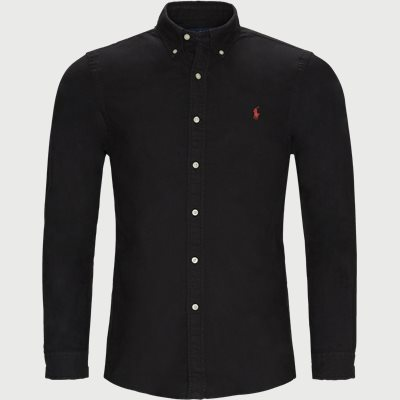 Oxford Skjorte Slim | Oxford Skjorte | Sort