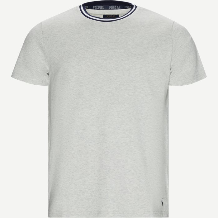 Neck Stripe T-shirt - T-shirts - Regular - Grå