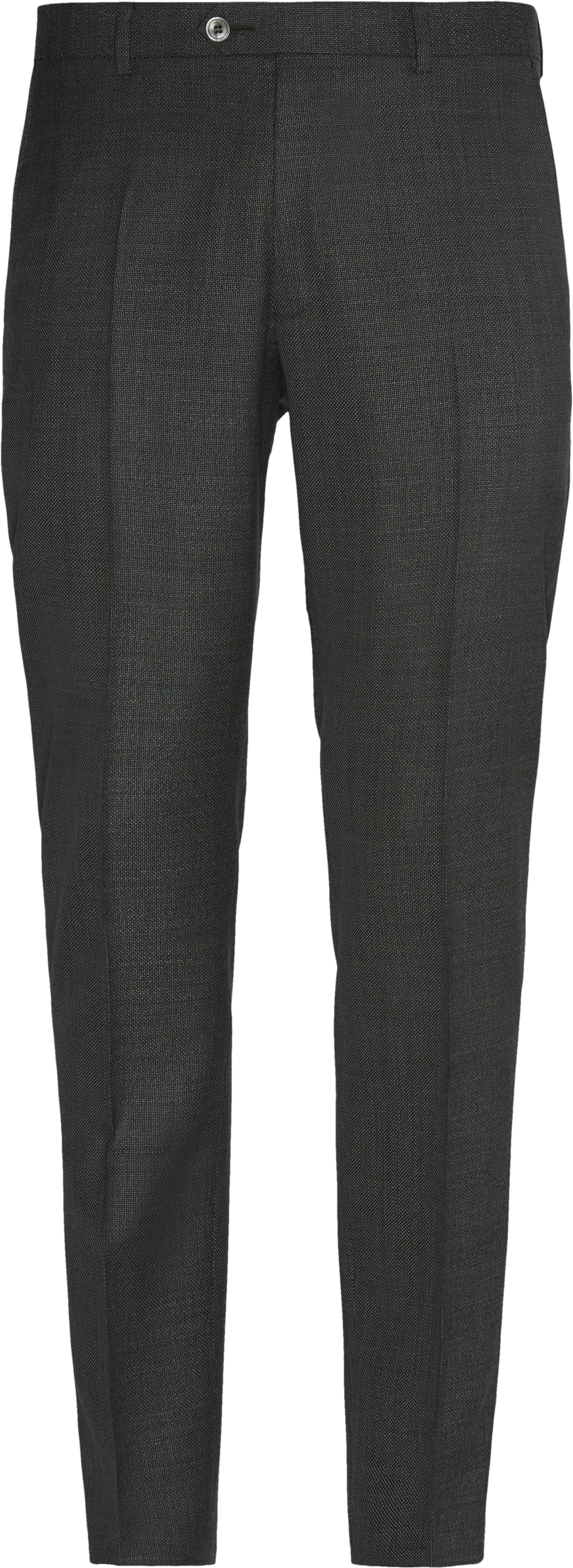 Trousers - Slim fit - Green
