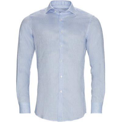 Hør skjorte Contemporary fit | Hør skjorte | Blå