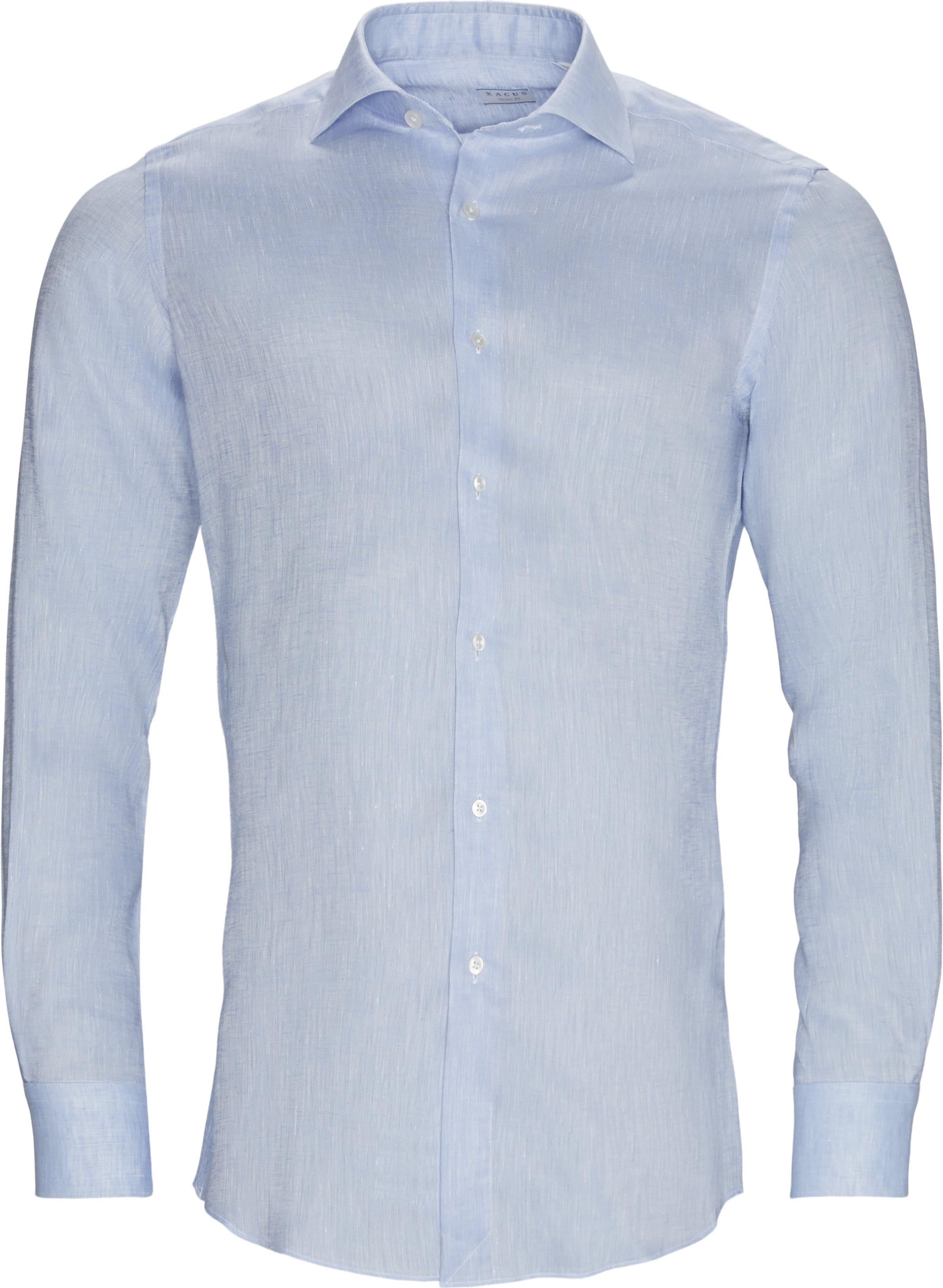 Hør skjorte - Skjorter - Contemporary fit - Blå