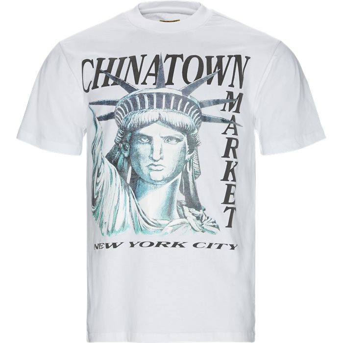 NYC Tee - T-shirts - Regular - Hvid