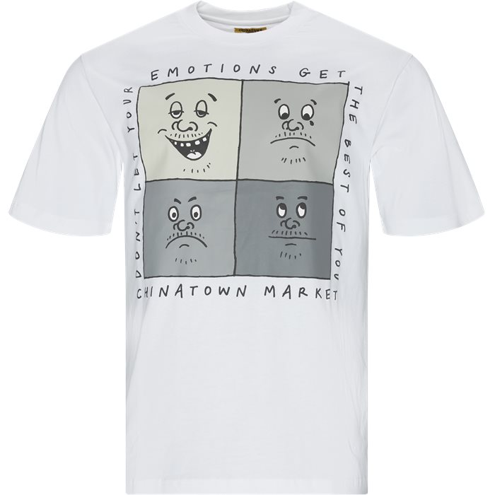 Emotions Tee - T-shirts - Regular - Hvid