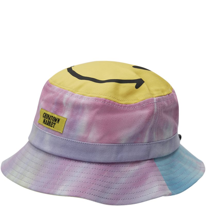 Image of   Chinatown Market Smiley Tie Dye Bucket Hat Multi