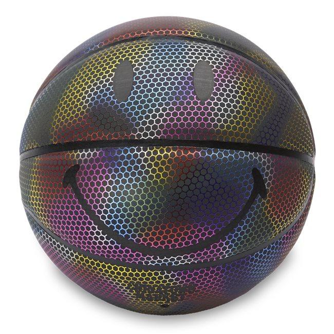 Rainbow Reflective Smiley Basketball