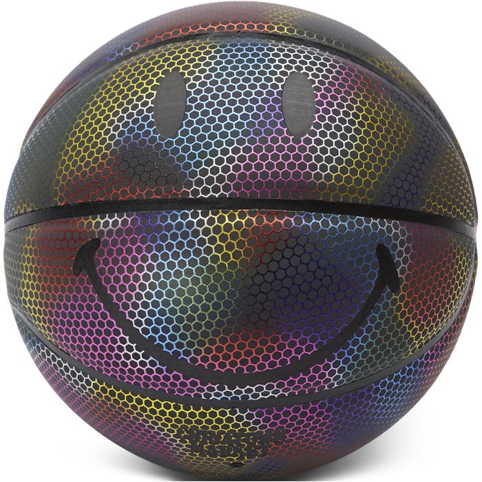 Rainbow Reflective Smiley Basketball - Accessories - Multi