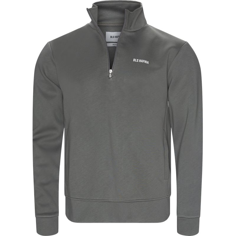 Image of   BLS Regular fit QUARTER ZIP INTERLOCK Sweatshirts Grå