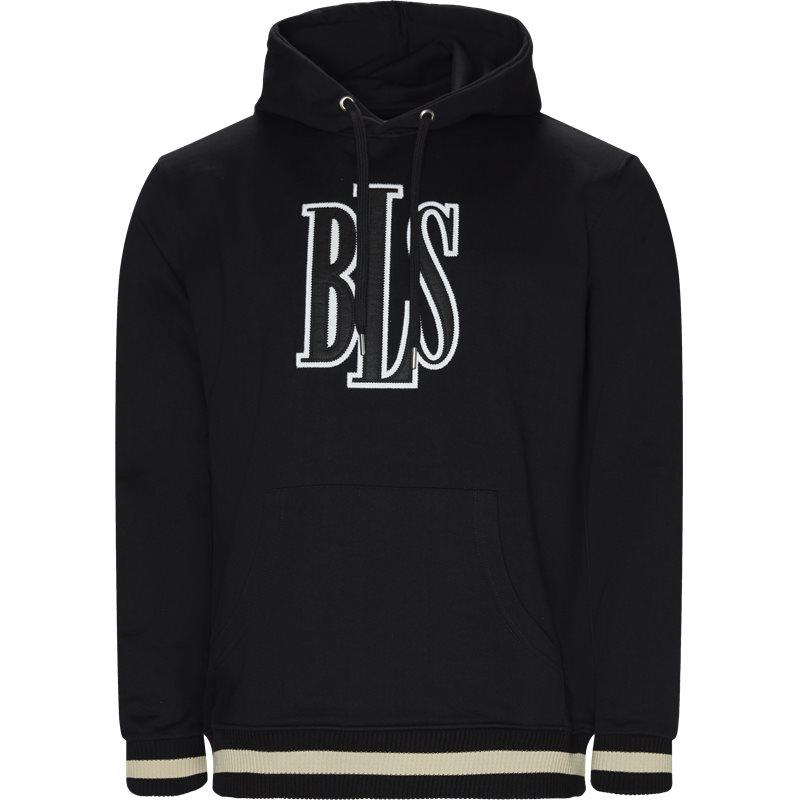 Image of BLS Regular fit CENTER LOGO HOODIE Sweatshirts Sort