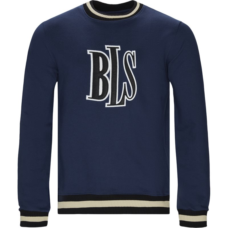 Image of   BLS Regular fit CENTER LOGO CREWNEC Sweatshirts Blå