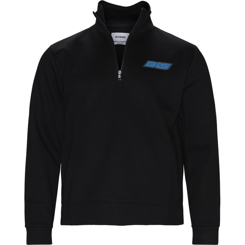 Image of   BLS Regular fit QUARTER ZIP RACER Sweatshirts Sort