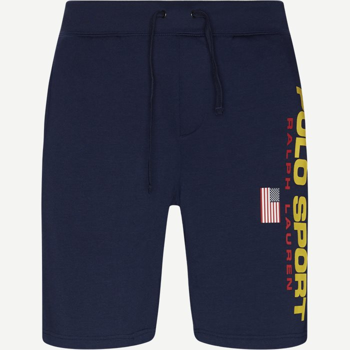 Logo Fleece Shorts - Shorts - Regular - Blå