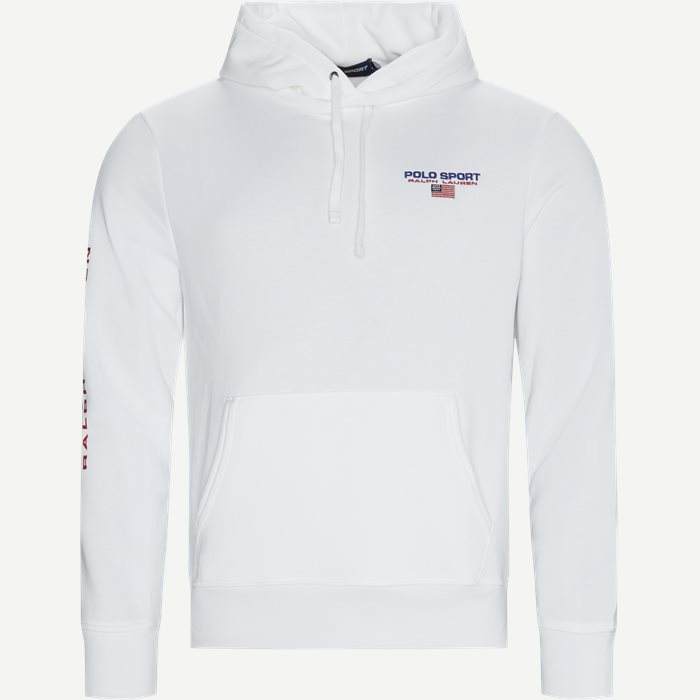 Sport Fleece Hoodie - Sweatshirts - Regular - Hvid