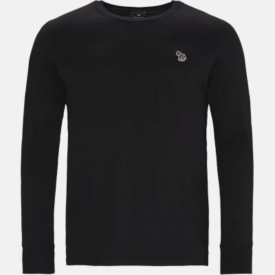 Regular fit | Langærmede t-shirts | Sort