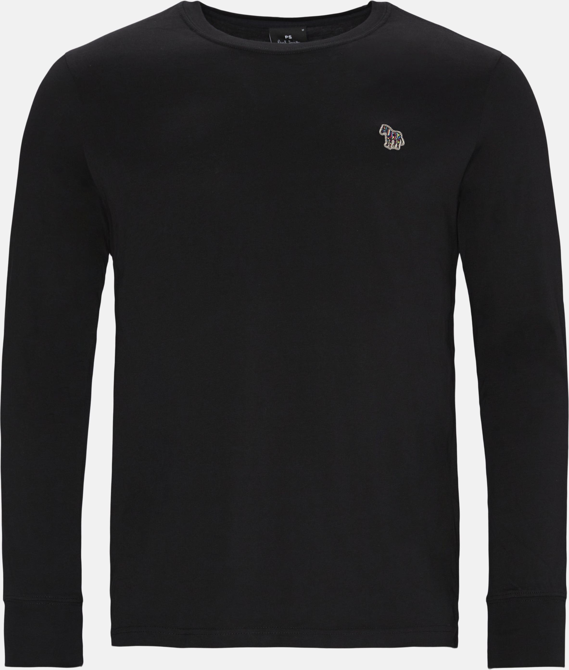 Langærmede t-shirts - Regular fit - Sort