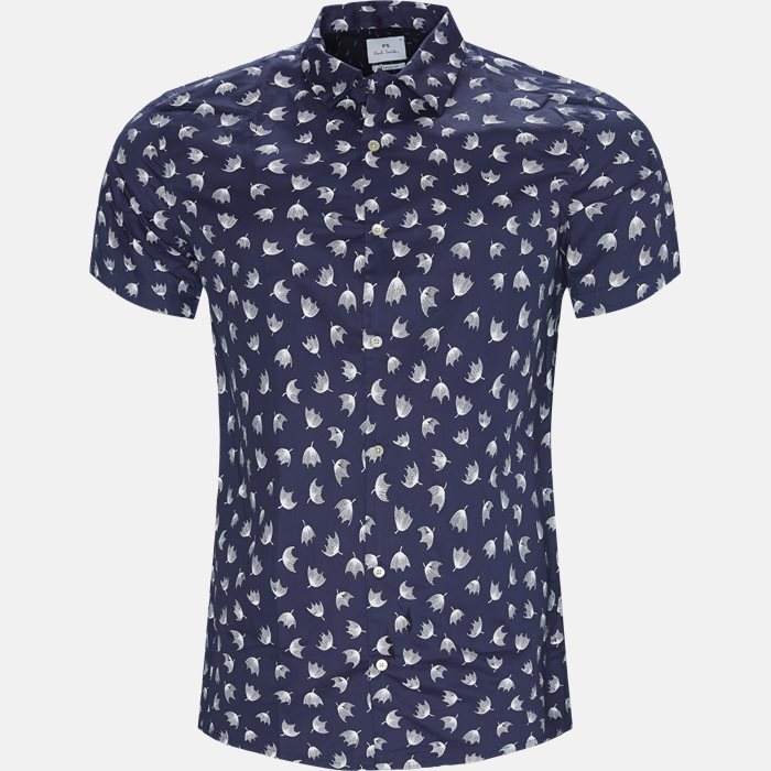 Short-sleeved shirts - Casual fit - Blue