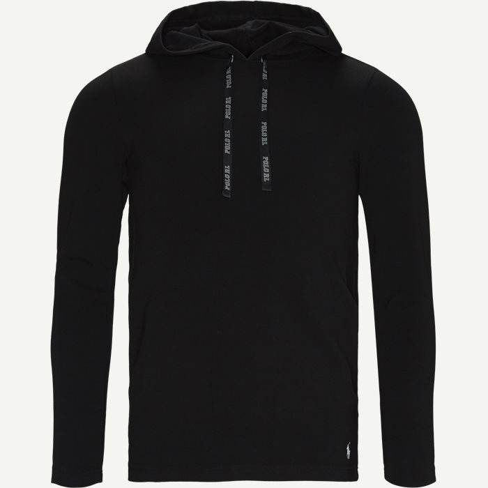 Cotton-Stretch Hoodie - Undertøj - Regular - Sort