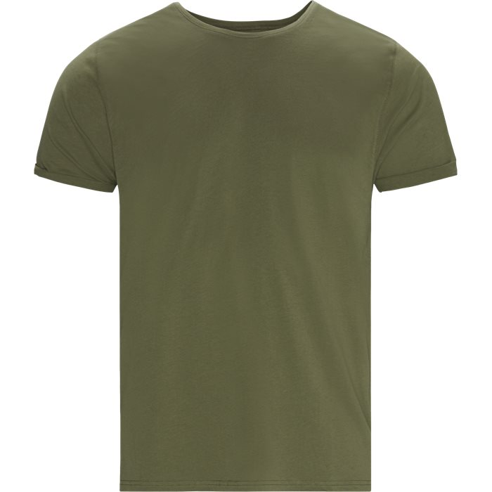 Jimmy Solid Tee - T-shirts - Loose - Army