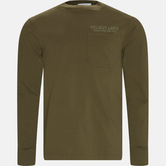 Langærmede t-shirts - Oversized - Army