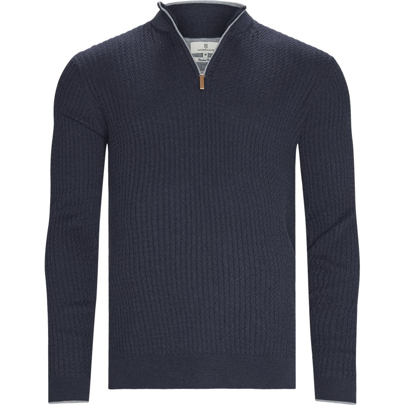 Image of   Hansen & Jacob - Half Zip Mini Cable Knit