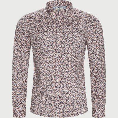 Flower Touch Skjorte Casual fit | Flower Touch Skjorte | Orange
