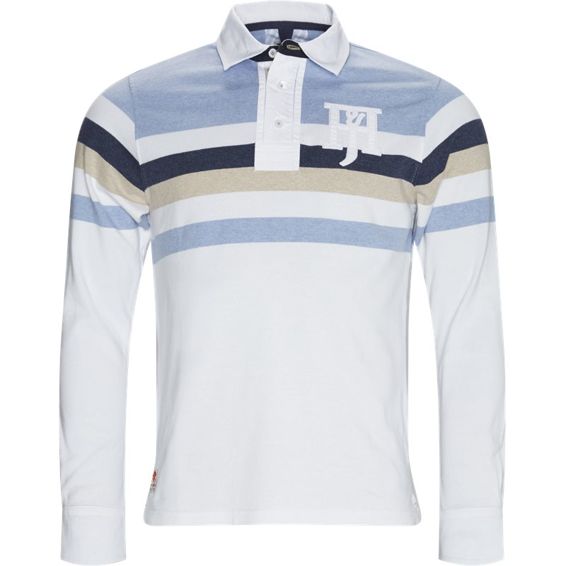Image of   Hansen & Jacob - Chest Striped Rugger LS T-shirt