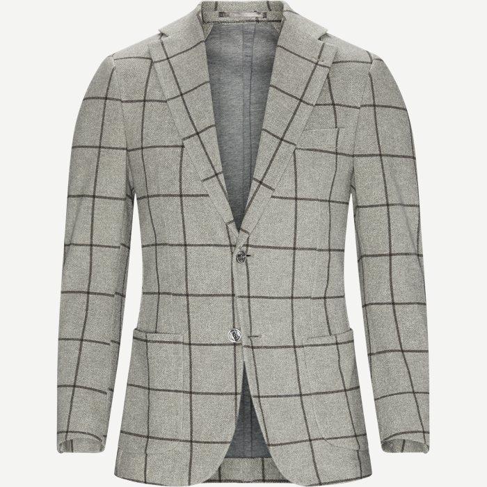 Filto Overcheck Jersey Jacket - Blazer - Modern fit - Grå