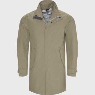 Rick Rainproof Tech Coat Modern fit | Rick Rainproof Tech Coat | Brun