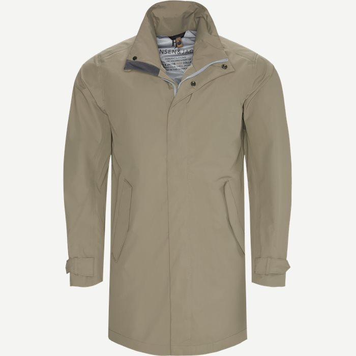 Rick Rainproof Tech Coat - Jakker - Modern fit - Brun