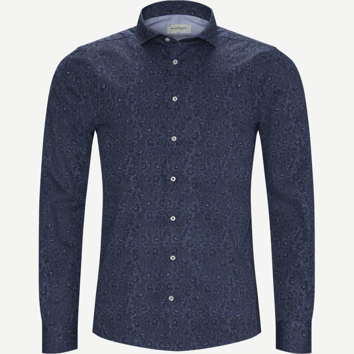 Brock Skjorte - Skjorter - Slim - Blå