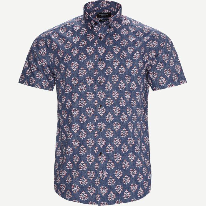Konnor Kortærmet Skjorte - Kortærmede skjorter - Modern fit - Blå