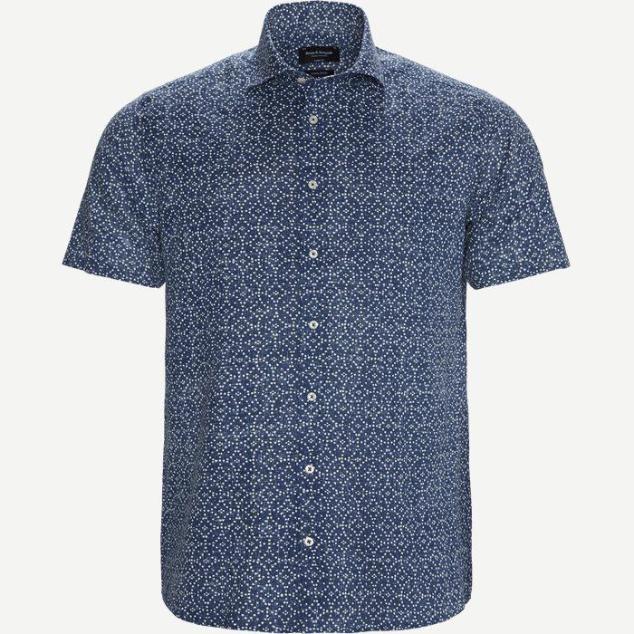 Cohen Kortærmet Skjorte - Kortærmede skjorter - Modern fit - Blå