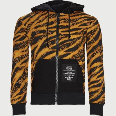 Fleece Print Tiger Zip Sweatshirt Regular | Fleece Print Tiger Zip Sweatshirt | Sort