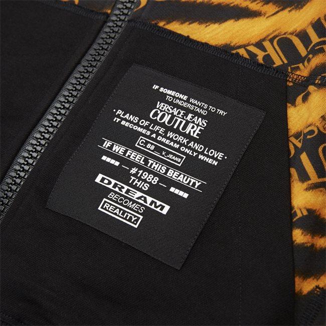Fleece Print Tiger Zip Sweatshirt