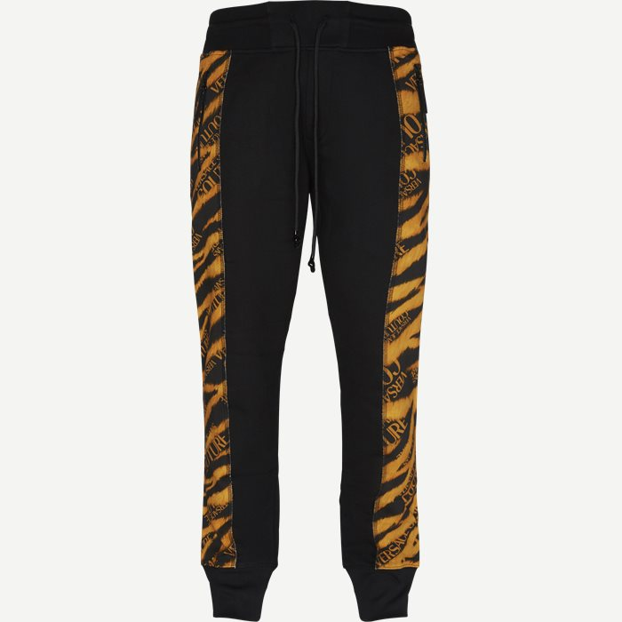 Fleece Print Tiger Sweatpant - Bukser - Regular - Sort