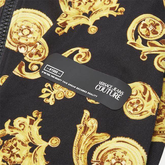 Contr Print Zip Sweatshirt