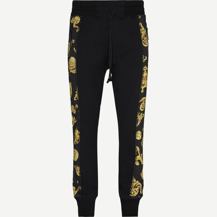 Contrast Print Sweatpant - Bukser - Regular - Sort